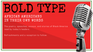 Bold Type: African Americans in Their Own Words @ Anderson Main Library