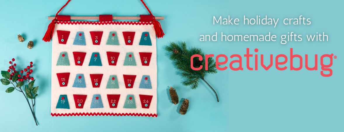 Made holiday crafts and homemade gifts with Creativebug