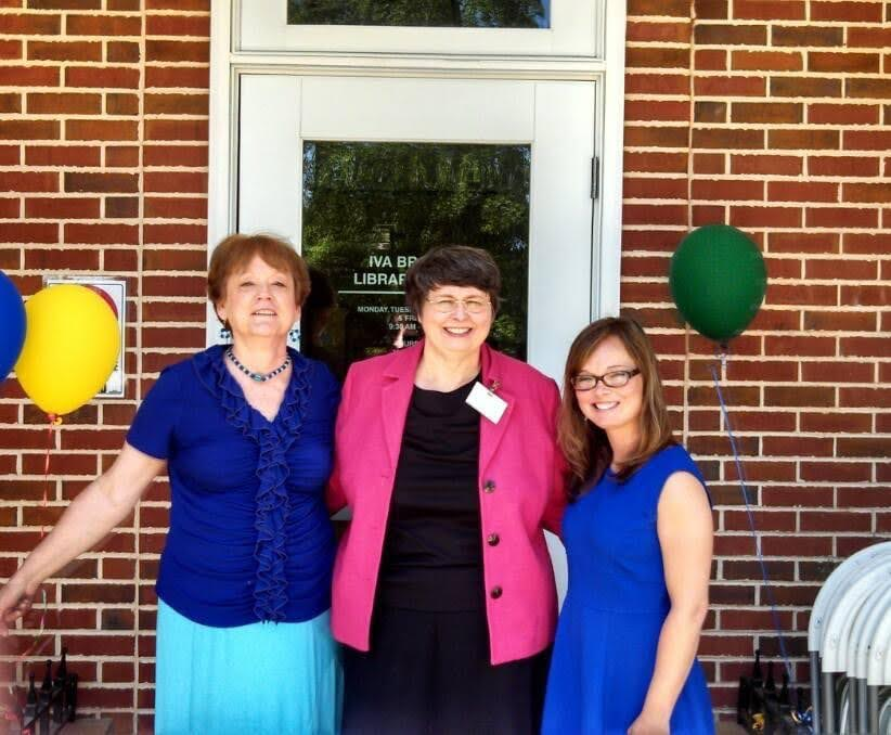 Faith with two other ACLS staff at the Iva Renovation Reopening